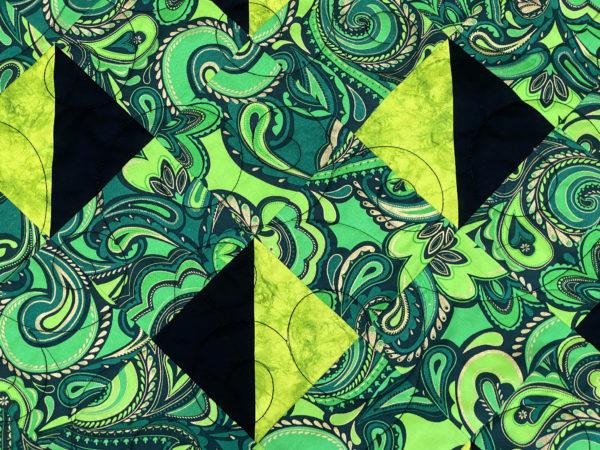 Angela's Black & Green Lattice Quilt