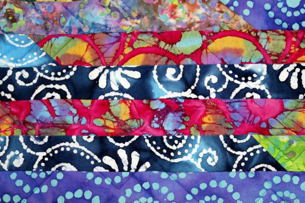 Carole's Batik Strip Quilt