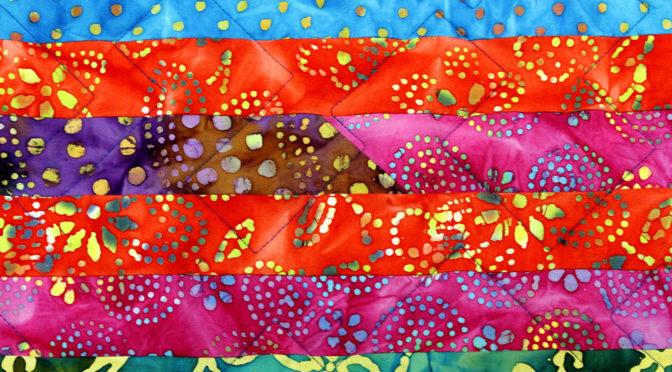 Carole's Batik Strip Quilt!