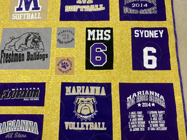 Marianna Bulldogs T-Shirt Quilt for Sydney