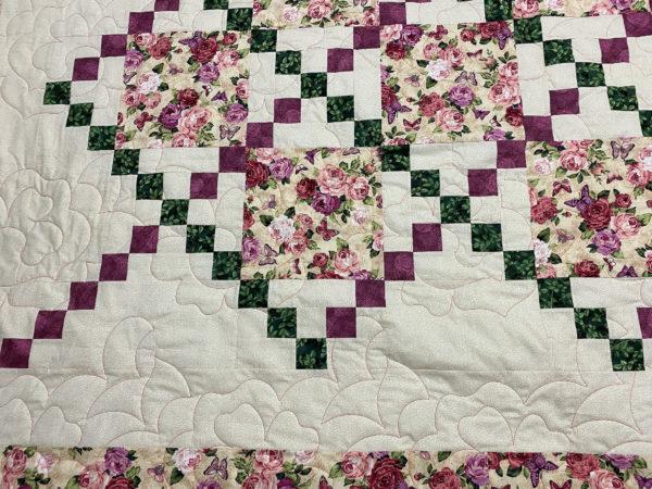 Bonnie's Floral Irish Chain Quilt