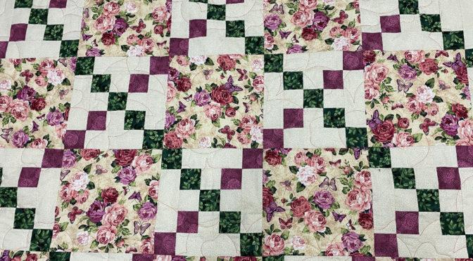 Bonnie's Floral Irish Chain Quilt!