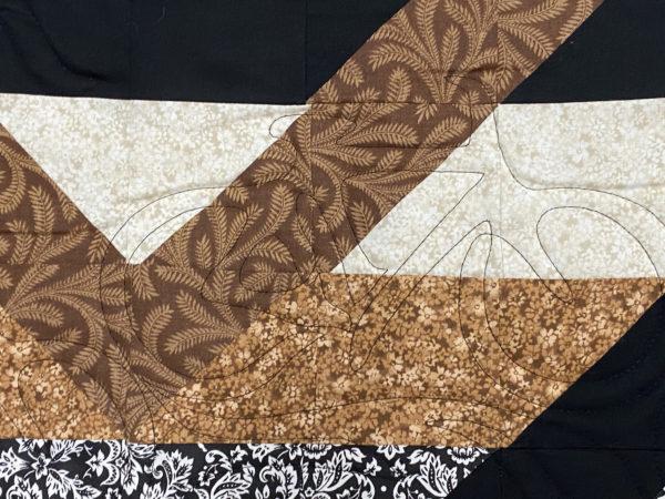 Katherines's Star in Interlocking Squares Quilt