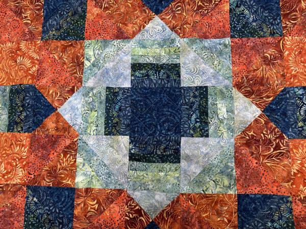 Shirley's Golden State Batik Quilt