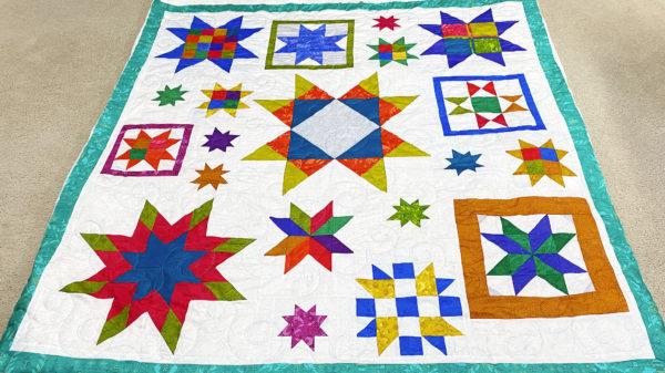 Sue's Star Block Quilt